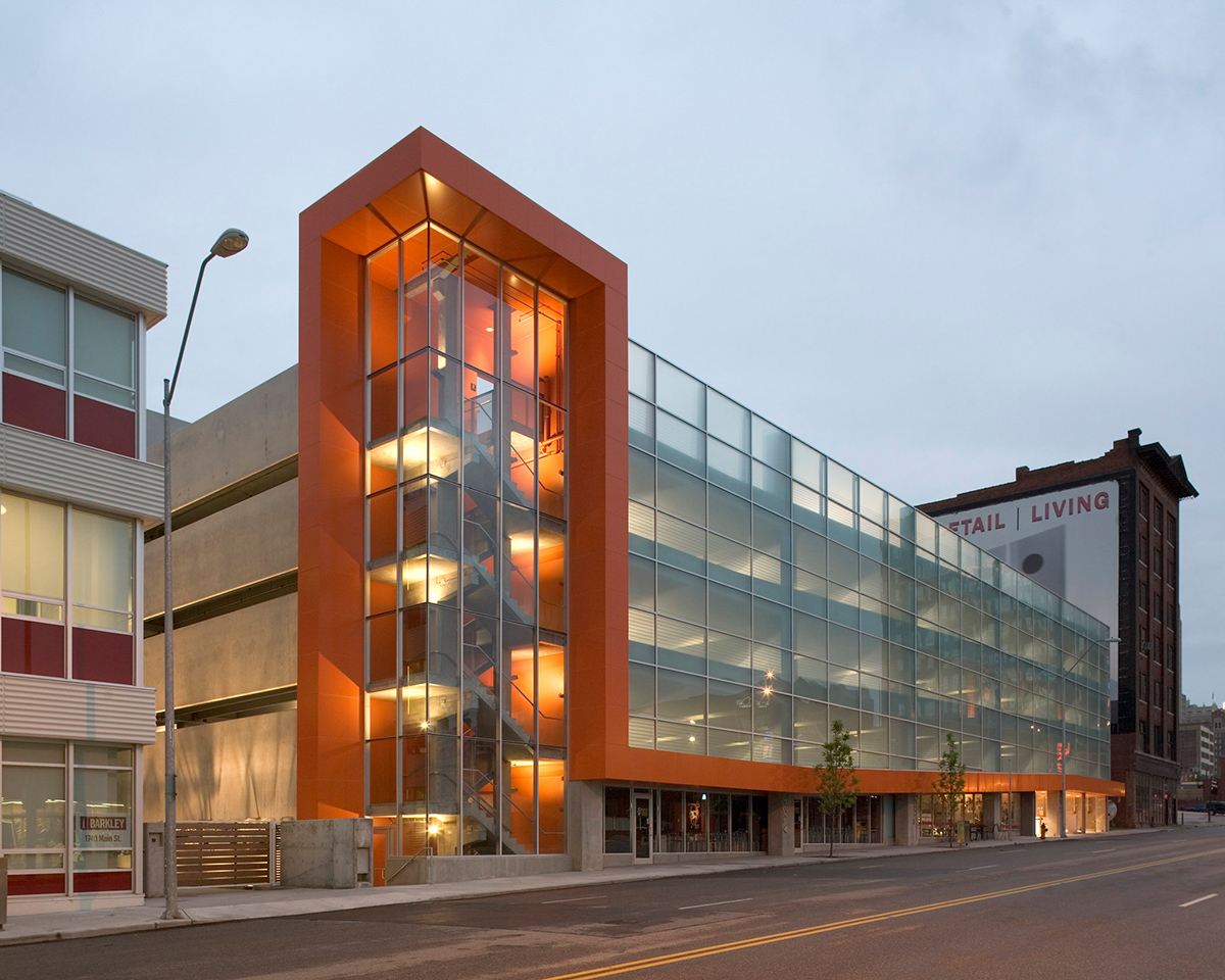 Parking Garage Design : Civic helix architecture design