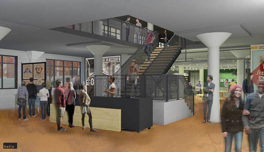 Boulevard Brewery Visitor Center Entry Rendering