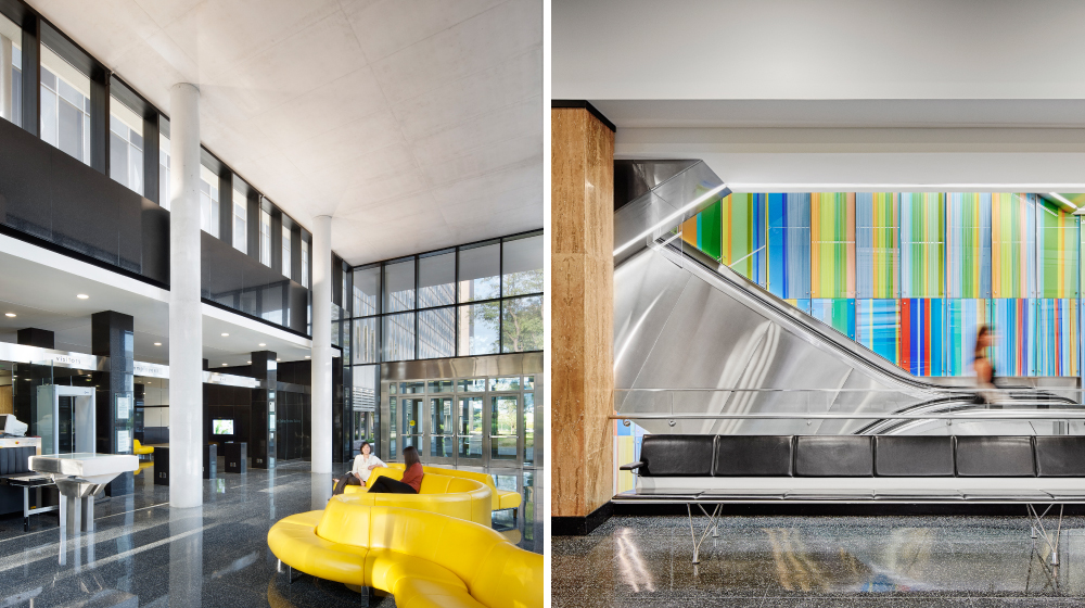 Richard Bolling Federal Building Interiors Before + After