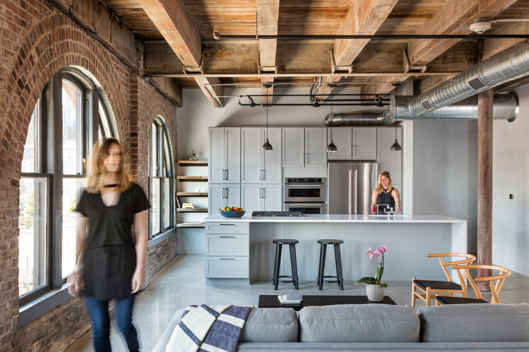 Historic renovation archives helix architecture design - The apartment in the warehouse ...