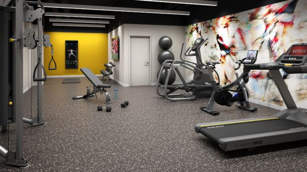 Rendering of fitness center