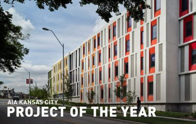 Residence Hall with PROJECT OF THE YEAR text