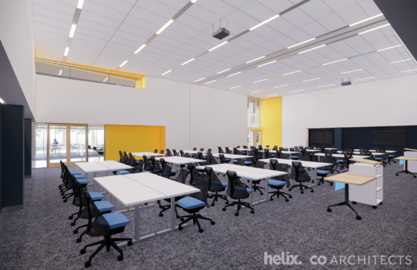 Large classroom and learning studio at Sedgwick Hall